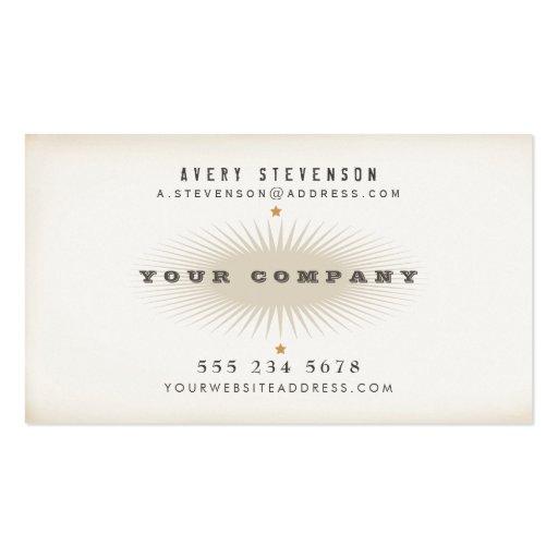 Hanche élégante de typographie de style vintage âg cartes de visite personnelles