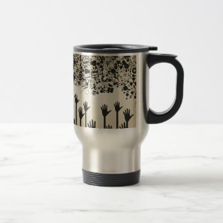 Hand a science travel mug