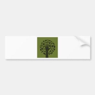 Hand a tree3 bumper sticker