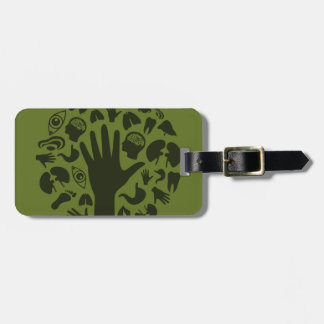 Hand a tree3 luggage tag