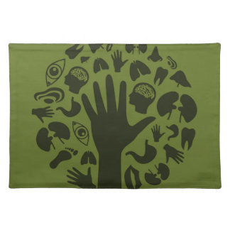 Hand a tree3 placemat