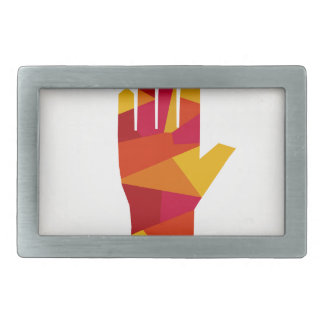 Hand abstraction belt buckles