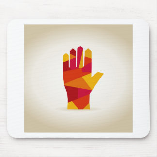 Hand abstraction mouse pad