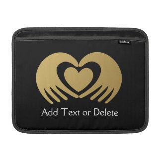 Hand and Heart Macbook Air Sleeve - SRF