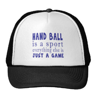 HAND BALL JUST A GAME TRUCKER HAT