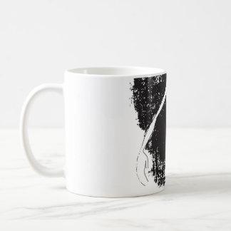 hand basic white mug