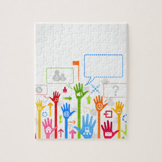 Hand business jigsaw puzzle