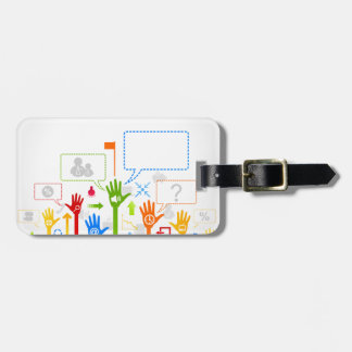 Hand business luggage tag