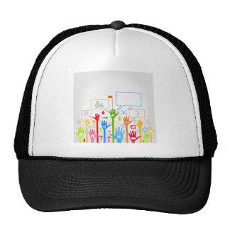 Hand business trucker hat