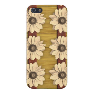 Hand Carved Wooden Daisies iPhone 5/5S Case