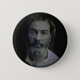 Hand-Colored Walt Whitman Portrait Age 29 2 Inch Round Button