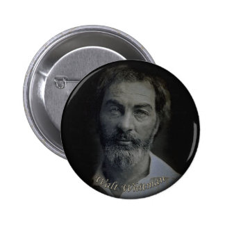 Hand-Colored Walt Whitman Portrait Age 29 2 Inch Round Button