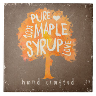 Hand Crafted Pure Maple Tree Syrup Decorative Tile