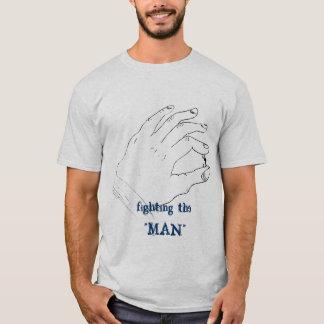 """hand crush , fighting the """"MAN"""" T-Shirt"""