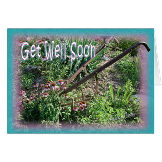 Hand Cultivator-get well, customize Card