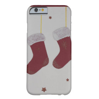 Hand cut red santa sock barely there iPhone 6 case