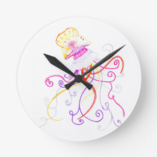 Hand Designed Jellyfish Wall Clock