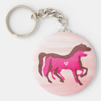 Hand Designed Pink Horse Keychain