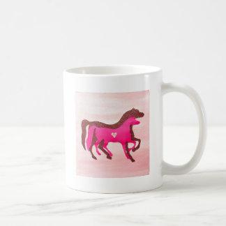 Hand Designed Pink Horse Mug