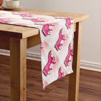 Hand Designed Pink Horse Table Runner