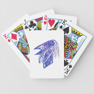 Hand Draw Monster Portrait Ilustration Bicycle Playing Cards