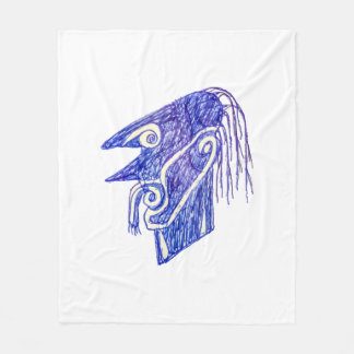 Hand Draw Monster Portrait Ilustration Fleece Blanket
