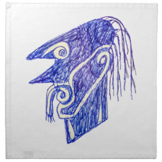Hand Draw Monster Portrait Ilustration Napkin