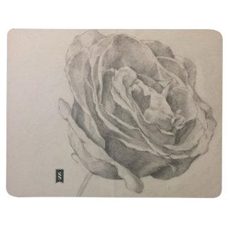 Hand draw sketch flowers pocket journal