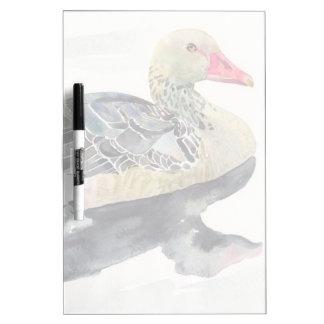 Hand Draw Watercolor Bird, Duck Dry-Erase Whiteboards