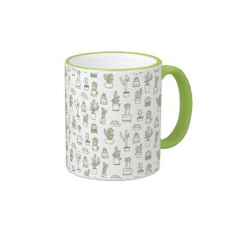 Hand Drawing Cactus Collage Mug