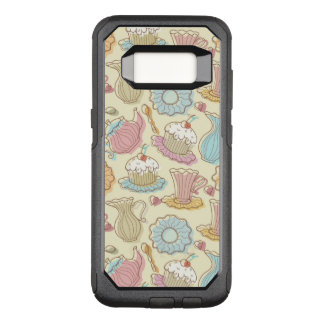 Hand Drawing Dishes Silhouettes OtterBox Commuter Samsung Galaxy S8 Case