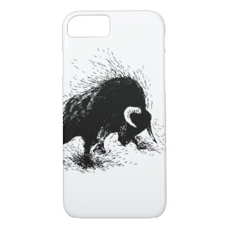 Hand drawing of a raging bull iPhone 8/7 case
