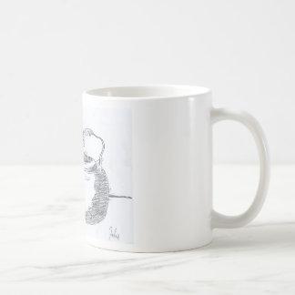 Hand Drawing Teapot Still Life Gear Classic White Coffee Mug