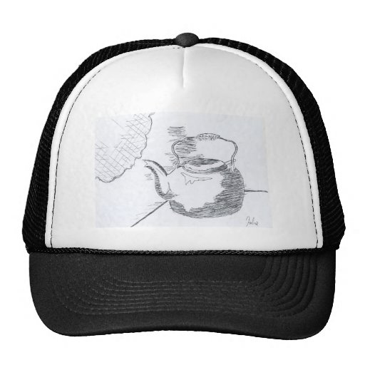 Hand Drawing Teapot Still Life Gear Hat