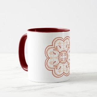 Hand-drawing tiles Mug Pink Pattern Art