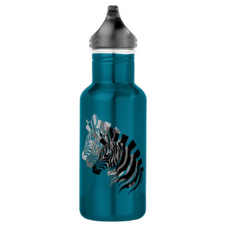 Hand Drawn 3-in-1 Zebra Art Steel Water Bottle