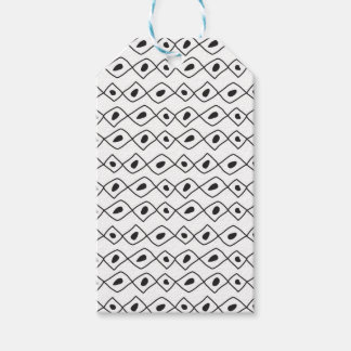 Hand drawn abstract african style texture gift tags