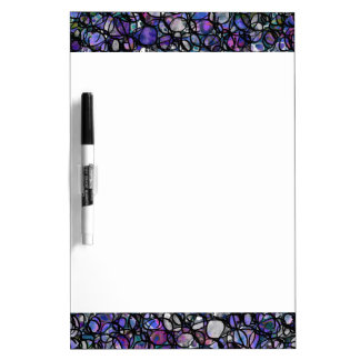 Hand-Drawn Abstract Circles, Blue, Purple, Black Dry Erase Board