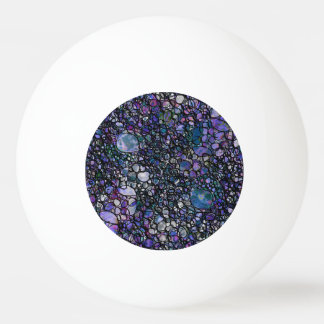 Hand-Drawn Abstract Circles, Blue, Purple, Black Ping Pong Ball