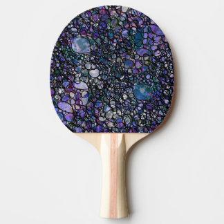 Hand-Drawn Abstract Circles, Blue, Purple, Black Ping Pong Paddle
