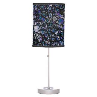 Hand-Drawn Abstract Circles, Blue, Purple, Black Table Lamp