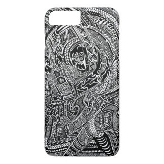 Hand-drawn Abstract Tribal Crazy Doodle iPhone 8 Plus/7 Plus Case