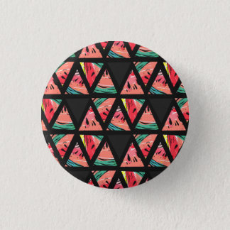 Hand Drawn Abstract Watermelon Pattern 1 Inch Round Button