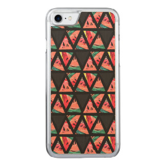 Hand Drawn Abstract Watermelon Pattern Carved iPhone 8/7 Case