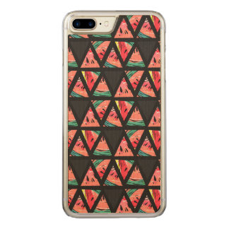 Hand Drawn Abstract Watermelon Pattern Carved iPhone 8 Plus/7 Plus Case