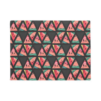 Hand Drawn Abstract Watermelon Pattern Doormat