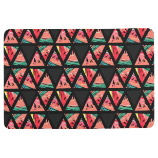 Hand Drawn Abstract Watermelon Pattern Floor Mat