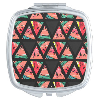 Hand Drawn Abstract Watermelon Pattern Mirrors For Makeup
