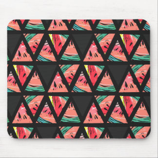 Hand Drawn Abstract Watermelon Pattern Mouse Pad