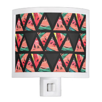 Hand Drawn Abstract Watermelon Pattern Night Lite